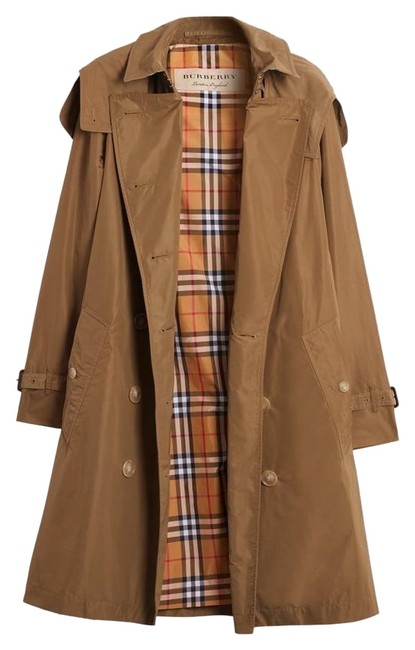 Item - Camel Tan Kensington New Taffeta with Detachable Hood Coat Size 4 (S)