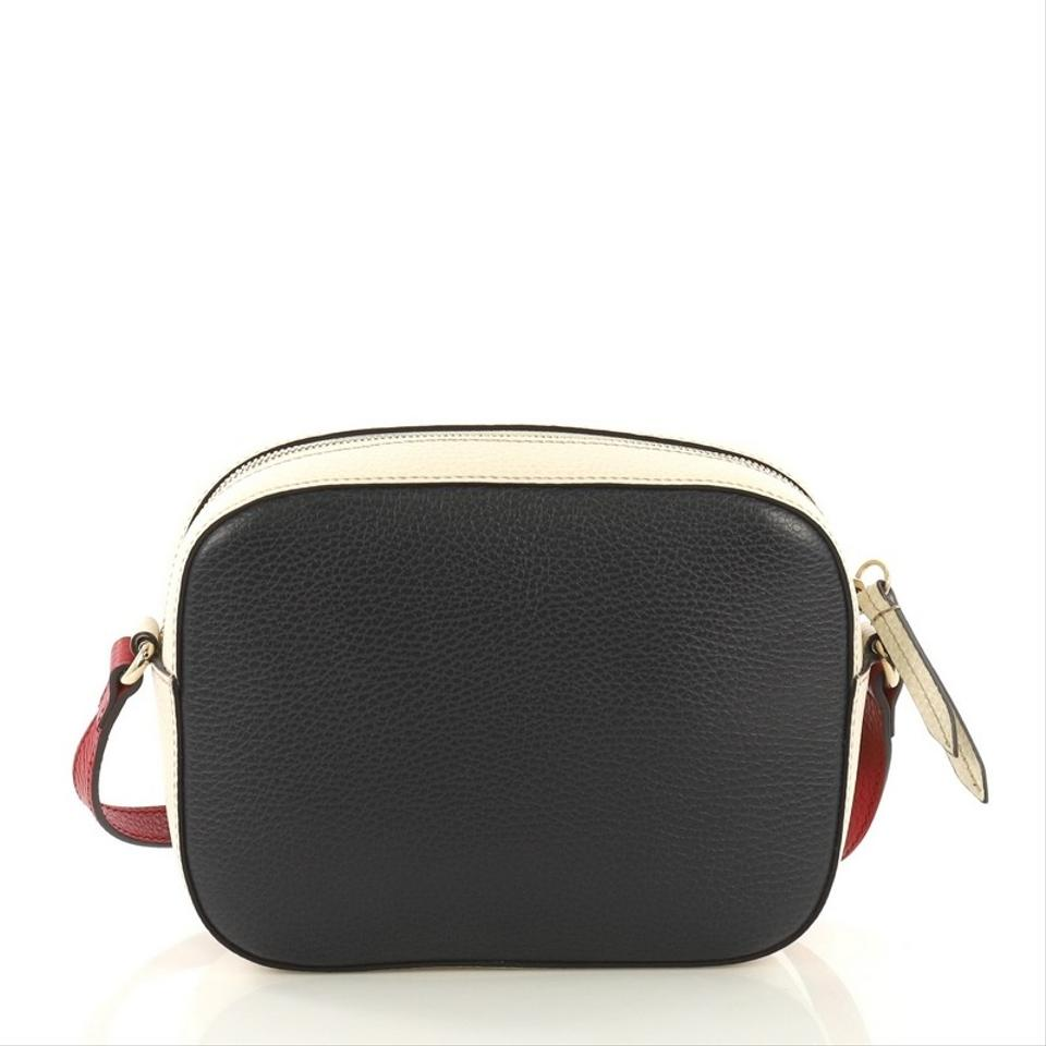 0b22edb7ebf622 Gucci Soho Disco Small Navy Red and White Leather Cross Body Bag ...
