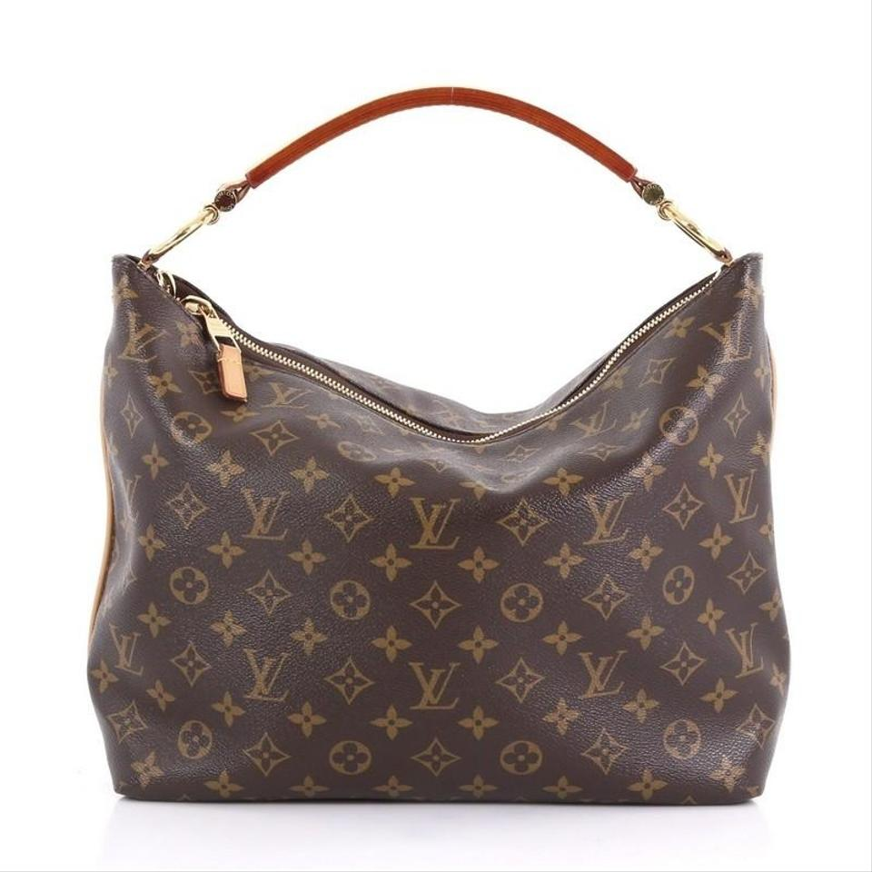 faa55133f263 Louis Vuitton Sully Handbag Monogram Pm Brown Coated Canvas Satchel ...