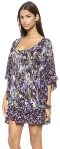 Free People short dress Eggplant Floral Freepeopledress Bohodress Festivaldress on Tradesy