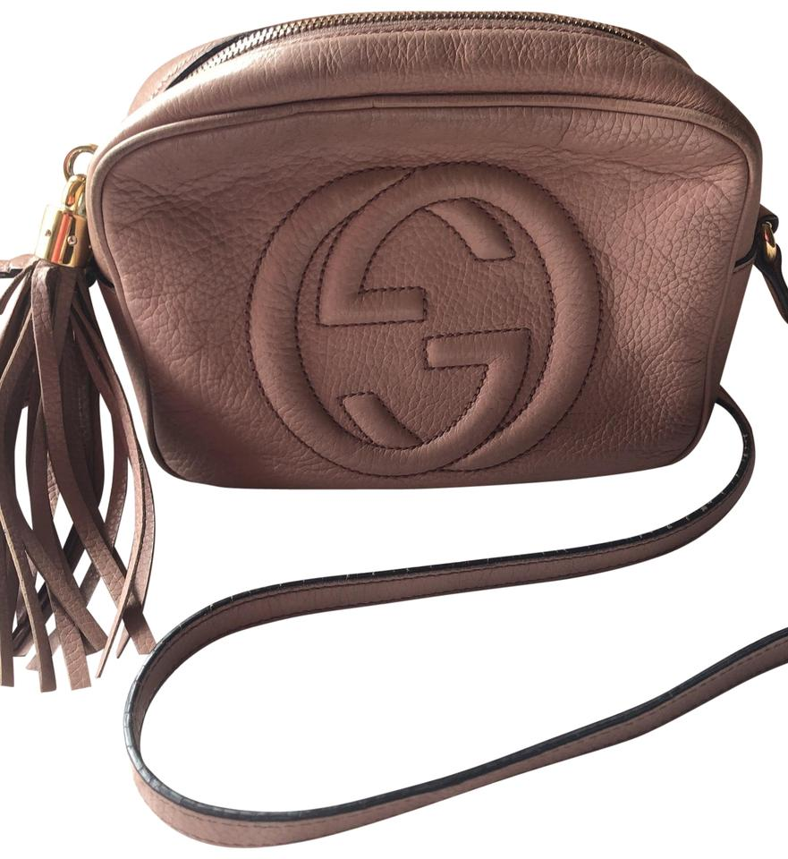 62ae2d29dee Gucci Pink Taupe Leather Cross Body Bag - Tradesy