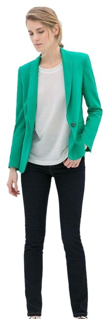 Item - Green Casual Buttoned Blazer Size 2 (XS)