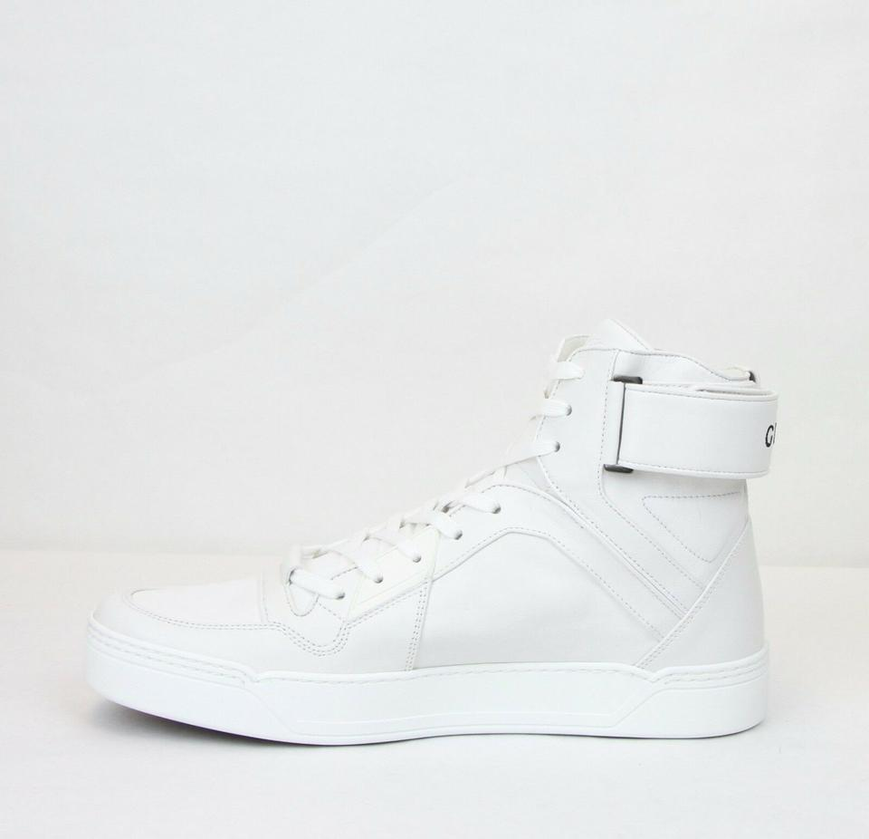 ea01ba158 Gucci White Men's Soft Leather High Top Sneakers 9g/Us 10 386738 9070 Shoes