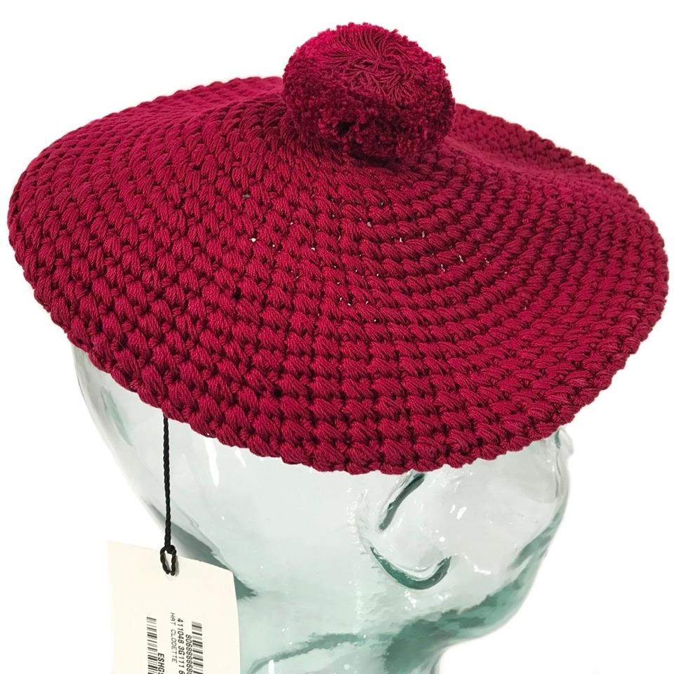 5a25917f358 Gucci Red New 411048 Cotton Beret M Burgundy Hat - Tradesy