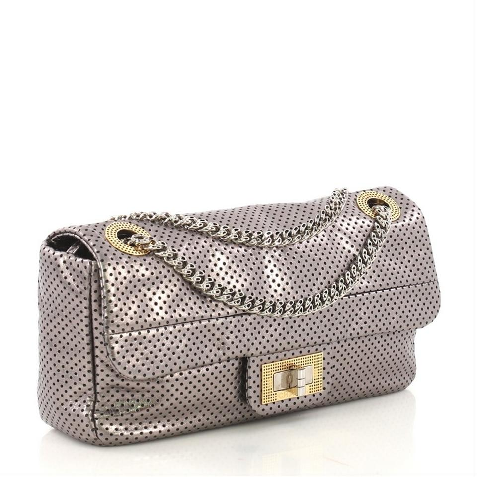 06d1d67620699a Chanel Classic Flap Drill Perforated Medium Silver Leather Shoulder Bag -  Tradesy