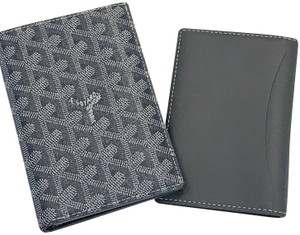 Goyard Goyardine Passport Wallet Grey