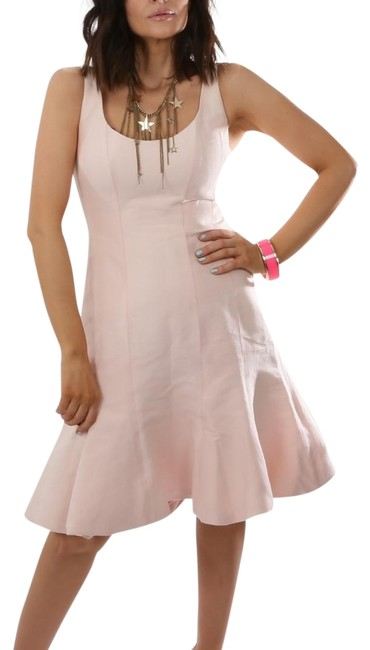 Halston Pink Heritage Light Ballet Slipper Sleeveless Short Cocktail Dress Size 6 (S) Halston Pink Heritage Light Ballet Slipper Sleeveless Short Cocktail Dress Size 6 (S) Image 1