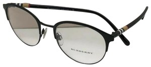 Burberry New BURBERRY Eyeglasses B 1318 1252 51-19 145 Black & Plaid Frame