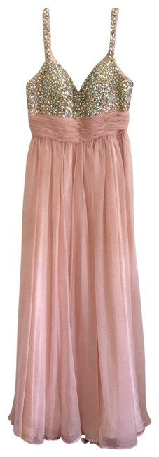 Item - Peachy-pink Prom Long Formal Dress Size 0 (XS)