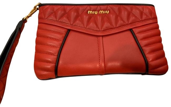 Item - Red Nappa Leather Wristlet
