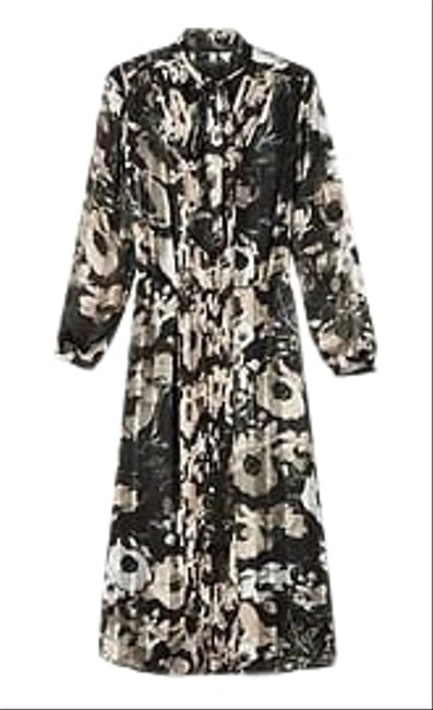 Item - Floral Multi Tie Neck Mid-length Casual Maxi Dress Size 2 (XS)