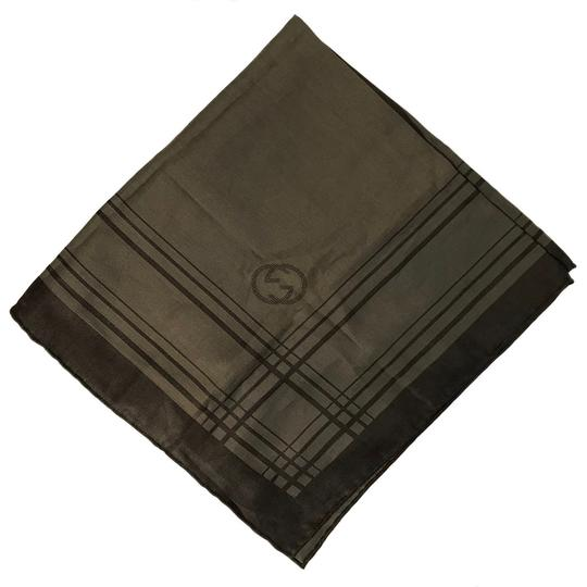 Gucci NEW GUCCI 255505 Men's Cotton Silk Square Pocket Handkerchief Image 7