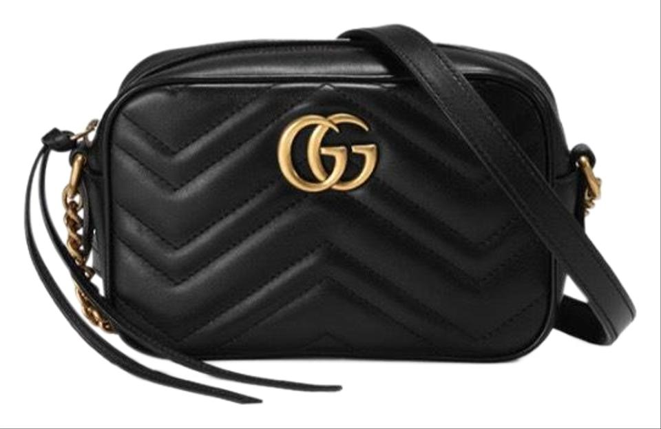 09433be92f9 Gucci Marmont Gg Matelassé Camera Mini Quilted Leather Shoulder ...