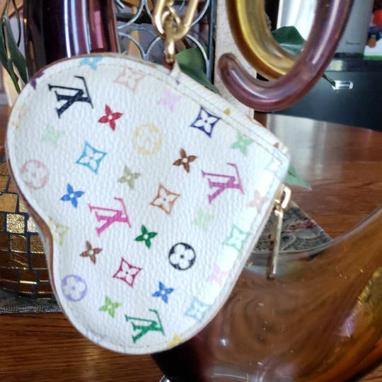 Louis Vuitton Louis Vuitton monogram Merkami multi colored heart shaped wristlet. Beautiful by itself, or great addition to your handbag as a change purse. Good used condition. See pictures, ask questions if needed. Image 1