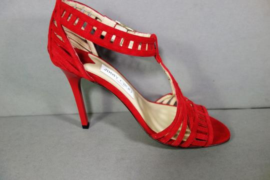 Jimmy Choo Red Sandals Image 8
