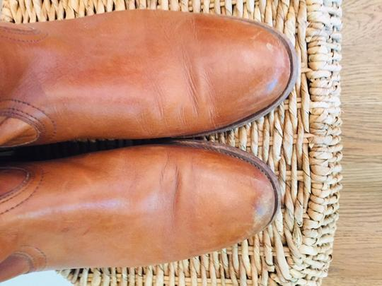 Frye Leather Stacked Heel Iconic Made In Usa Vintage saddle Boots Image 2