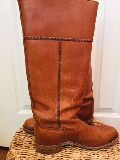 Frye Leather Stacked Heel Iconic Made In Usa Vintage saddle Boots Image 4