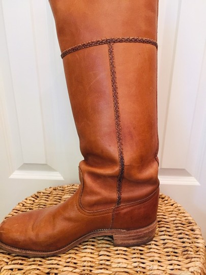 Frye Leather Stacked Heel Iconic Made In Usa Vintage saddle Boots Image 5