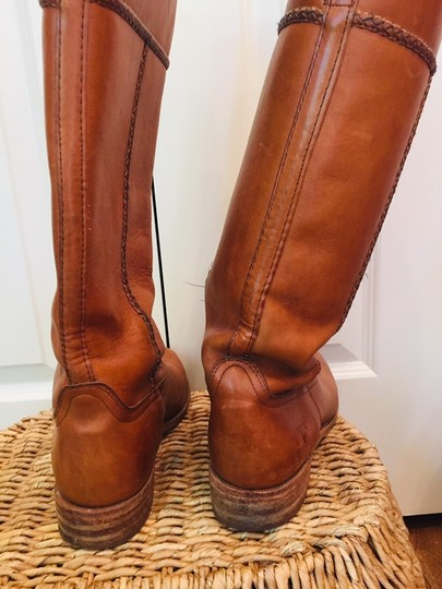 Frye Leather Stacked Heel Iconic Made In Usa Vintage saddle Boots Image 6