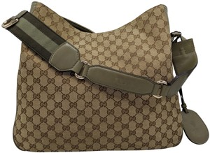 Gucci Gg Monogram Supreme Web Hobo Bag