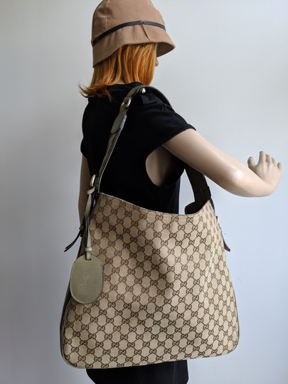 Gucci Gg Monogram Supreme Web Hobo Bag Image 1