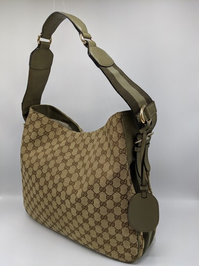 Gucci Gg Monogram Supreme Web Hobo Bag Image 2