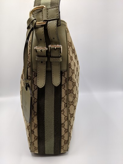 Gucci Gg Monogram Supreme Web Hobo Bag Image 4