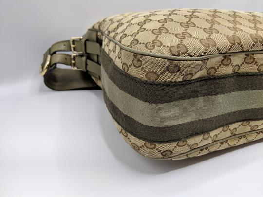 Gucci Gg Monogram Supreme Web Hobo Bag Image 8