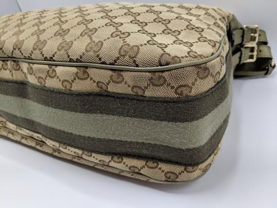 Gucci Gg Monogram Supreme Web Hobo Bag Image 9