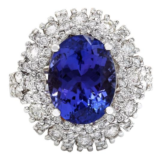 Preload https://img-static.tradesy.com/item/25230923/blue-714-carat-natural-tanzanite-14k-solid-white-gold-diamond-ring-0-0-540-540.jpg