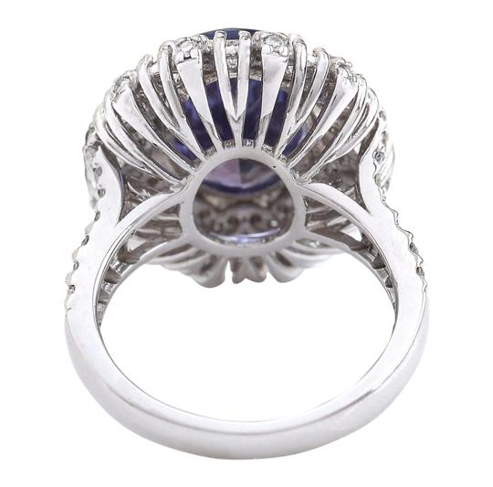 Fashion Strada 7.14 Carat Natural Tanzanite 14K Solid White Gold Diamond Ring Image 5
