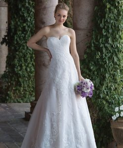 Pink Champagne/Ivory/Sand 4024d Traditional Wedding Dress Size 10 (M)