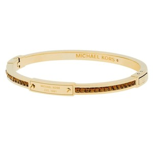 6e83dae9d3a6 Michael Kors NWT MICHAEL KORS PARK AVE BROWN PAVE CRYSTALS GOLD BANGLE  MKJ4716710