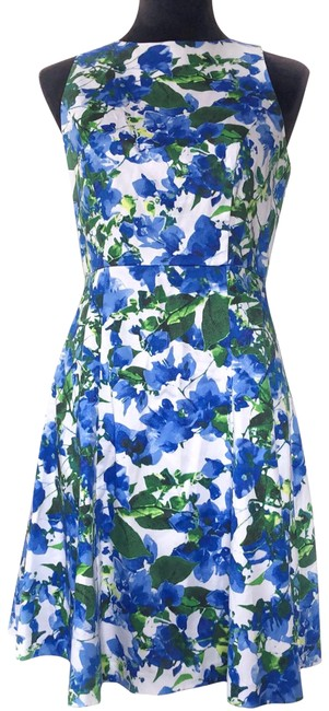 Preload https://img-static.tradesy.com/item/25231099/milly-womens-banvin-floral-a-line-zip-watercolor-blue-green-spring-short-casual-dress-size-4-s-0-1-650-650.jpg