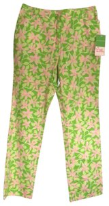 Lilly Pulitzer Straight Pants Floral green/pink