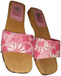Lilly Pulitzer Talbots Pucci Coach Bag Pink Mules