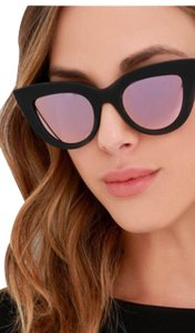 833467b9a5 Quay quay kitty black sunglasses cateeye