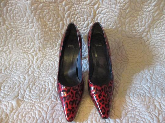Stuart Weitzman Red Patent Pumps Image 4