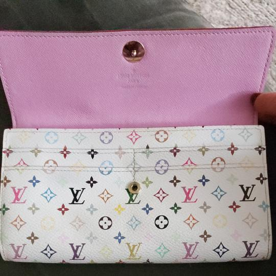 Louis Vuitton Louis Monogram Merkami multi colored wallet with pink interior. Hard to find in such good shape. Minimal signs of use. 10 credit card slots, 3 bill compartments, and one change holder with zip closure. Beautiful wallet...love, love, love Image 6