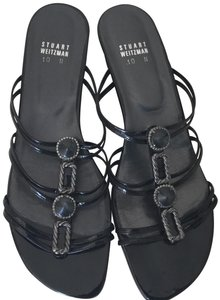 Stuart Weitzman Black and silver Sandals