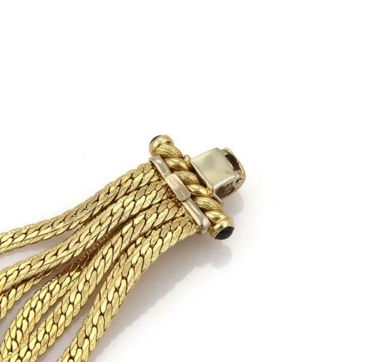 Other Vintage Sapphire 18k Yellow Gold Multi-Strand Chain Bracelet Image 3