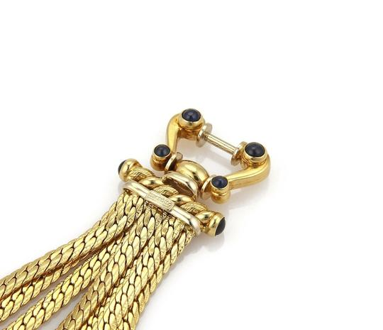 Other Vintage Sapphire 18k Yellow Gold Multi-Strand Chain Bracelet Image 4