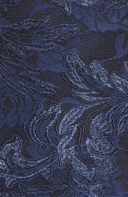 Xscape Navy Blue Embroidered Lace Mermaid Gown Long Formal Dress Size Petite 6 (S) Xscape Navy Blue Embroidered Lace Mermaid Gown Long Formal Dress Size Petite 6 (S) Image 5