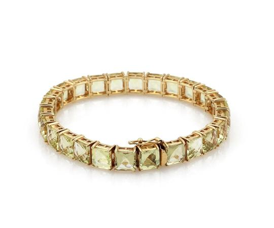 Other Vintage 52 Carats Square Cut Lemon Citrine 14k YGold Tennis Bracelet Image 1