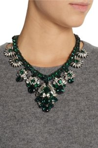 Shourouk Holy Emerald Crystal Embellishment Necklace
