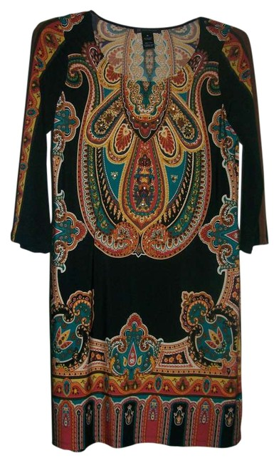 Preload https://item1.tradesy.com/images/inc-international-concepts-black-turquoise-gold-rust-knee-length-night-out-dress-size-10-m-252315-0-0.jpg?width=400&height=650