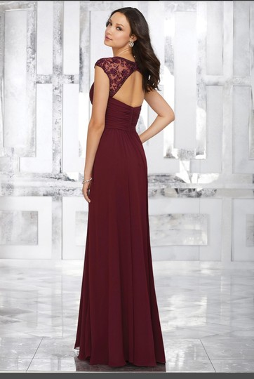 Mori Lee Claret Chiffon Style 21534 Formal Bridesmaid/Mob Dress Size 6 (S) Image 1