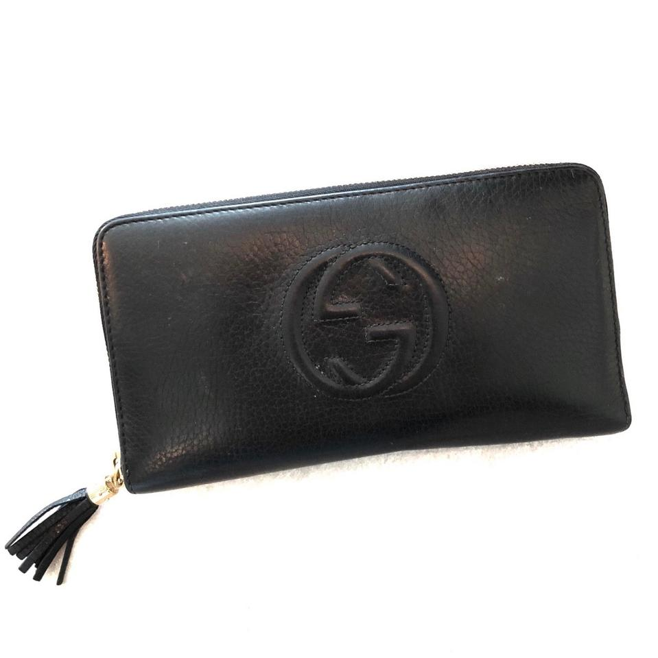 e5dfba5e835 Gucci Black Soho Leather Zip-around Wallet - Tradesy