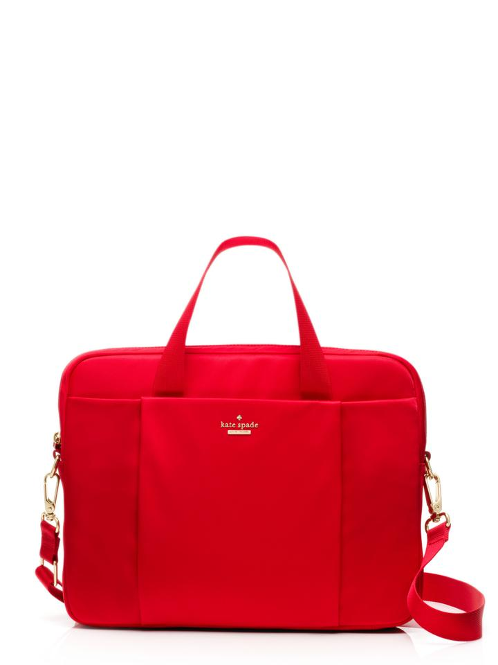 Kate Spade Women S Classic Commuter Red Nylon Laptop Bag 47 Off Retail