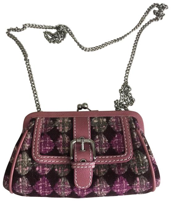 Item - Brown and Pink Cross Body Bag
